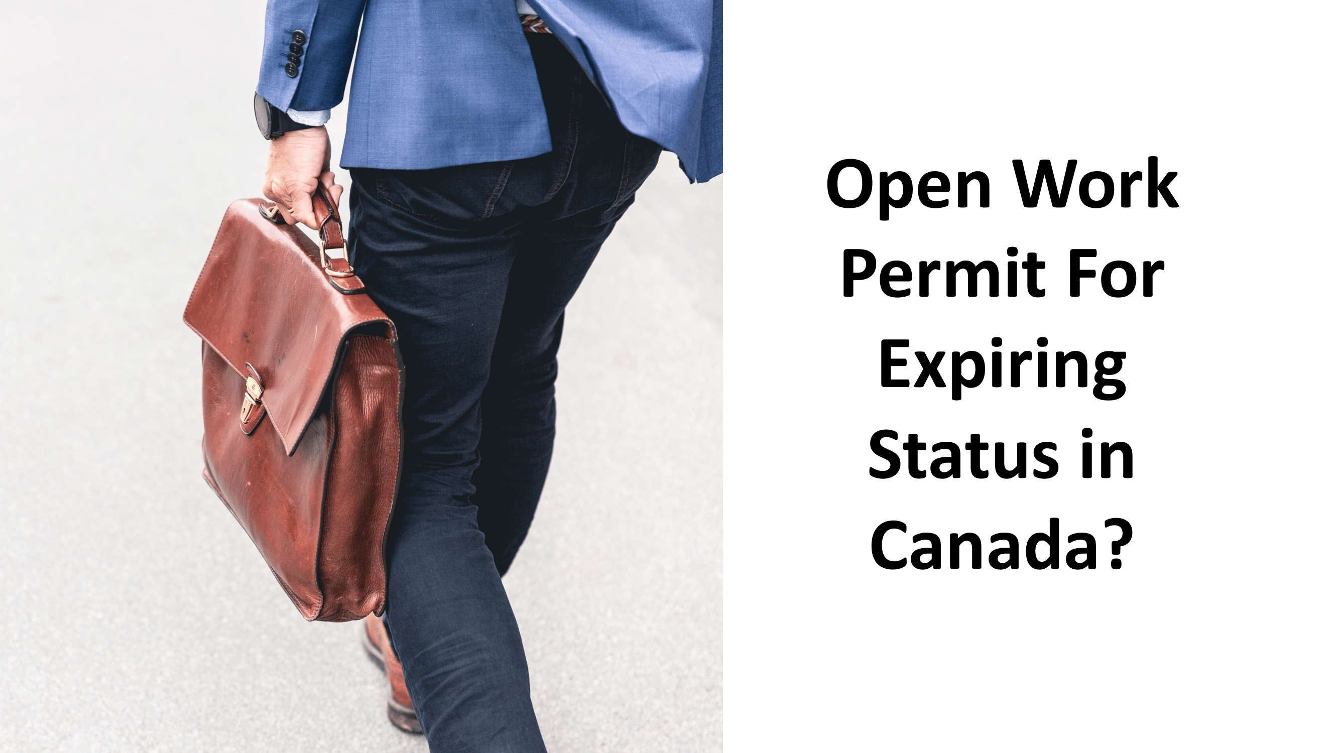 Open work permit for recent permanent residency applicants